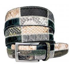Cintura in vero Pitone lavorazione Patchwork - BRUCLE Fatta a mano in Italia