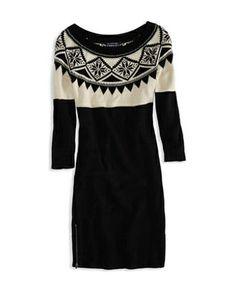 American Eagle Fair Isle Sweater Dress #refinery29