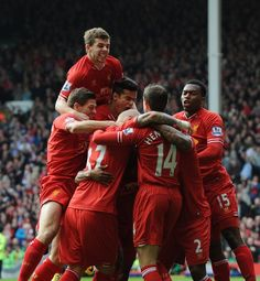 HALF-TIME: A sensational opening half ends with the Reds two up, thanks to an own goal and Luis Suarez #LFC 2-0 #THFC