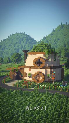 Cute Minecraft Houses, Minecraft Farm, Minecraft Plans, Amazing Minecraft, Minecraft Construction, Minecraft House Designs, Minecraft Tutorial, Minecraft Blueprints, Minecraft Creations