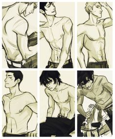 Percy, Jason, Frank, Nico, Leo... and I can't quite think of who the first picture might be...