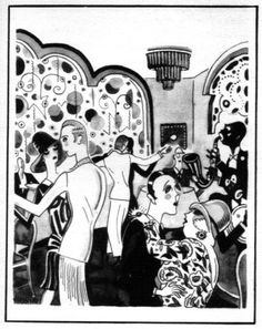 Sketch Of Dancers In Nightclub Or Cabaret, 1920S Poster Print By Mary Evans / Jazz Age Club Collection (18 X 24)