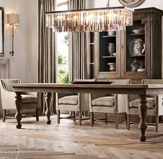 28 Luxury Rectangular Chandelier for Dining Room - Dining Room Design Ideas Rectangular Chandelier, Dining Chandelier, Dining Room Lighting, Sconce Lighting, Elegant Chandeliers, Fabric Armchairs, Dining Room Design, Restoration Hardware, Home Furnishings