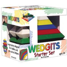 The perfectly nesting design of WEDGiTS Starter Set building blocks assures that there is no wrong way to build. This open-ended building set introduces the spatial world of angles, color matching and creative free-play designing. Tools And Toys, Booklet Design, Preschool Curriculum, Educational Toys For Kids, Kids Toys, Rabbit Toys, Books For Boys, Toys Online, Toy Store