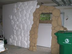 Styrofoam Stone Wall Stage Backdrop WOW wish we had the $ & time to do this.