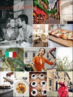 Rome, Italy Inspiration Board- Monochromatic Monday