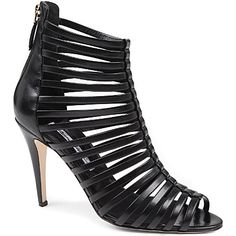 BRIAN ATWOOD Dolores leather cage sandals (Black)