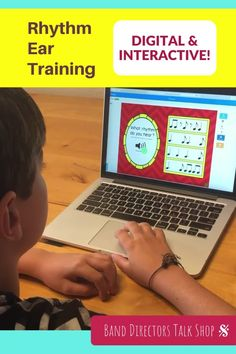 This rhythm ear training boom card set makes music theory FUN! Boom cards are 100% digital & interactive-great for music distance learning w/ Google Classroom, Canvas, Schoology & more. Boom cards can be played easily with no student login required & the boom teacher account is free! If you are looking to make teaching music online more fun, this music game is for you! Music teachers will love using these in their music lessons. Great for elementary music and middle school music including… Music Theory Games, Music Education Games, Music Theory Worksheets, Rhythm Games, Music Activities, Teaching Music, Music Teachers, Music Classroom, Music Lesson Plans