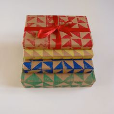 Lovely colourful handprinted wrapping paper