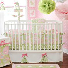 My Baby Sam Pixie Baby in Pink 4pc Crib Bedding Set