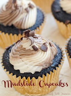 mudslide, chocolate, cupcake, buttercream, kahula, baileys, recipe, baking, food, dessert