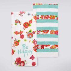 "Celebrate+Summer+Together+""Be+Happy""+Kitchen+Towel+2-pk."