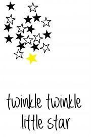 Twinkle twinkle little star | * Spreuken | Quotes | Zwart wit