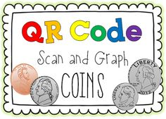 Practicing Coin ID with QR Codes  - Pinned by @PediaStaff – Please Visit ht.ly/63sNtfor all our pediatric therapy pins