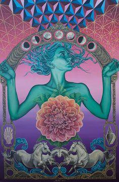 New trippy art drawing sacred geometry Ideas Art Inspo, Kunst Inspo, Inspiration Art, Psychedelic Art, Art And Illustration, Art Hippie, Hippie Peace, Art Visionnaire, Psy Art