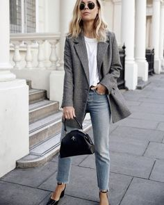 The merits of a gray blazer cannot be overstated. The versatile staple looks unquestionably chic with every outfit from distressed jeans to a slip dress.