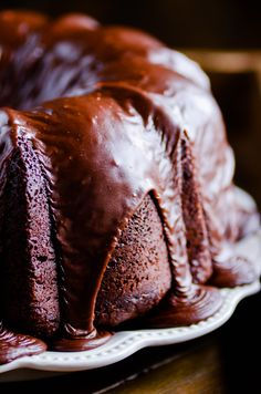 This cake has it all from a rich and moist chocolate cake to an over-the-top (literally) deeply chocolate frosting.