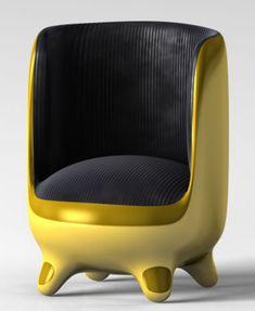 Golden Egg Chair by Onur Mustak Cobanli – Happy Easter!