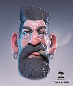 A character I'm working on Zbrush Character, 3d Model Character, Game Character Design, Character Design Animation, Character Modeling, Character Design References, Character Art, Character Sketches, Cartoon Faces