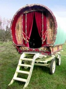 I'd love to cover the door to Aslan's tent with velvet curtains like this--just so all my guests know they're entering an unusual (and luxurious) room!