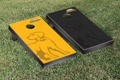 Maryland-Baltimore Retrievers Watermark Logo Cornhole Board Set