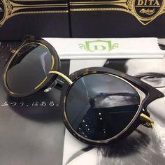 DITA Eyewear Dita Von Teese sunglasses Cat Eye http://www.aliexpress.com/store/product/New-Hot-DITA-Eyewear-23007-D-BLK-GLD-05-Sunglasses-Dita-Von-Teese-Retro-sunglasses-Soleil/1081943_32361693925.html