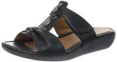 Clarks Women's Jandi Gem Slide Sandal,Black,9.5 M US >>> Want additional info? Click on the image.