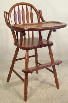 Beau Amish Lancaster Arrow Back Wooden High Chair