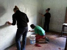 EHN volunteers painted the school inside and out