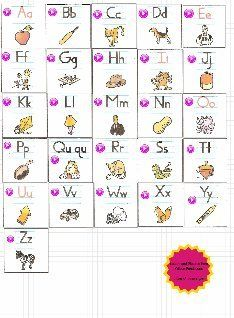 Clickable Fundations Alphabet with letter, keyword and sounds  (Except A - Apple - /a/ cuts off the vowel sound!)