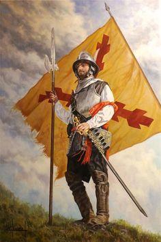 Spanish Sargeant of Martín Idiaquez's Tercio, by José Ferre Clauzel.