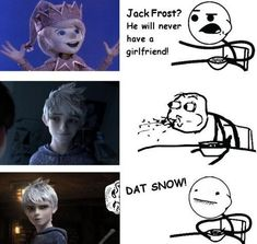 """Another Pinner said, """"Jack Frost. The newest member of my fictional character crush list."""" Now I really want to make a fictional character crush list! Jack Frost And Elsa, Jake Frost, Guardians Of Childhood, Memes, Rise Of The Guardians, Fandoms, The Big Four, Humor, Disney And Dreamworks"""