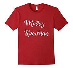 6a1571b0 Mens Merry Kissmas Cute Distressed T-Shirt for Couples Gi... https: