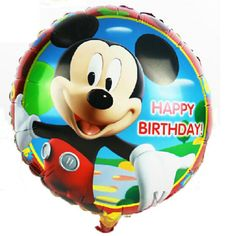 baby boy son 18inch happy birthday mickey mouse party  foil balloons baloes festa #Affiliate