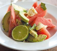 #RecipeOfTheWeek My Watermelon and Avocado Salad is wonderfully refreshing on a hot summer's day - here's the recipe http://www.annabel-langbein.com/recipes/watermelon-and-avocado-salad/421/