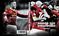 """Color your 2013 red and yellow with diares  """"2013 giallorosso"""" Switch 365 days together with your samples of Rome. Inside the best pictures of the players and excited!        Product that you can buy exclusively and only on the site www.myphotosoccer.it"""