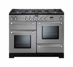 Buy Rangemaster 98830 Kitchener Dual Fuel Range Cooker - Stainless Steel and Chrome from Appliances Direct - the UK's leading online appliance specialist Domestic Appliances, Small Appliances, Foyers, Ranger, Dual Fuel Range Cookers, Cast Iron Wok, Mud Kitchen, Kitchen Ideas, Kitchen Decor