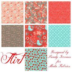 Flirt Designed by Sandy Gervais for Moda Fabrics