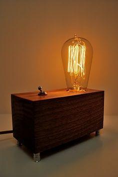 The Menlo Park Lamp- Single Edison Bulb in Walnut (Ready To Ship)