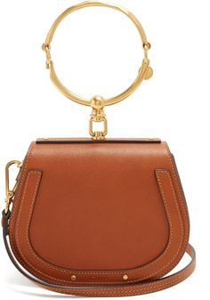 ba7295b8a1 Chloé Nile small leather and suede cross-body bag Borsa A Tracolla, Borse A