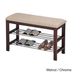 New Solid Wood Bamboo Shoe Bench Storage Racks Seat Organizer Entryway  Hallway