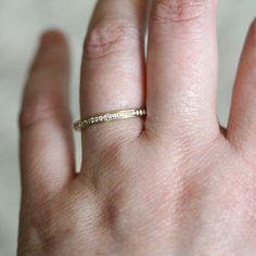 Vintage Inspired Diamond Eternity Ring 14K Yellow Gold Ring