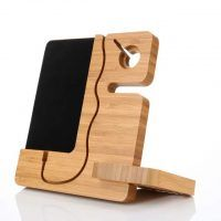 wooden-bamboo-desk-table-organiser-with-phone-holder-stand-de Phone Charger Holder, Phone Stand, Black And Red Roses, Phone Lockscreen, Phone Stickers, Phone Hacks, Desk Organization, Diy Videos, Phone Covers