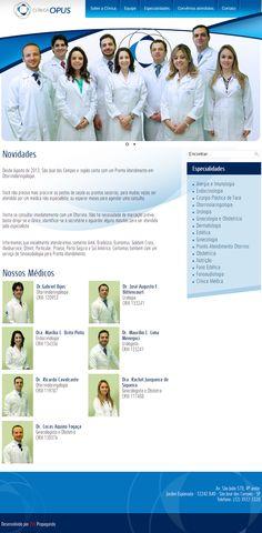 #website Seu site com um layout exclusivo e conteúdo gerenciável. Confira as vantagens dessa tecnologia acessando: www.esgpropaganda.com.br Cliente: http://www.clinicaopus.com.br/