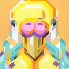 #Parrot illustration by Tadaomi Shibuya www.dutchuncle.co.uk/tadaomi-shibuya-images