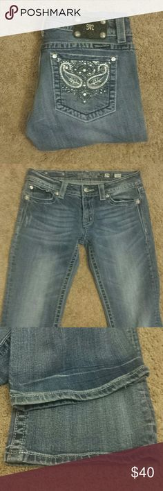 "Miss Me Boot Cut Bling Jeans! Miss Me Boot Cut Bling Jeans! Size 29, inseam 31"". EUC. Miss Me Jeans Boot Cut"