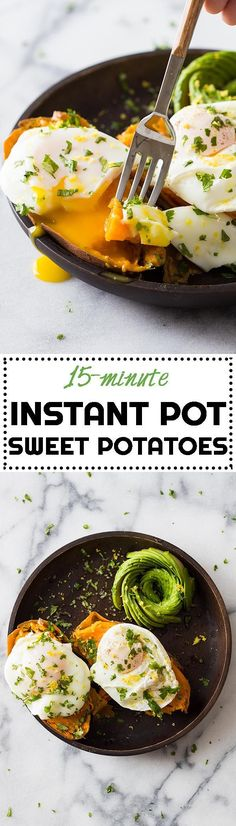 Making Instant Pot Sweet Potatoes is like the best discovery of all times!! Small sweet potatoes take no more than 15 minutes to cook through! via @greenhealthycoo