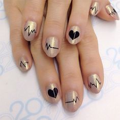 38 Creative Valentine Nail Art Designs Pictures - Nails C Diy Nails, Cute Nails, Pretty Nails, Valentine Nail Art, Geometric Nail, Heart Nails, Nagel Gel, Cool Nail Designs, Holiday Nails
