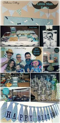 """Little Man"" party ideas! Printables and party decoration ideas for a Little Man party."