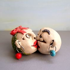 Ceramic sculpture, Ceramics and pottery, Anniversary gift, Wedding gift, Lovers sculpture, clay figures, romantic gift, Merry kissmas, by ednapio on Etsy